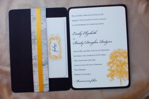 invitation booklet inside with pocket and invitation card