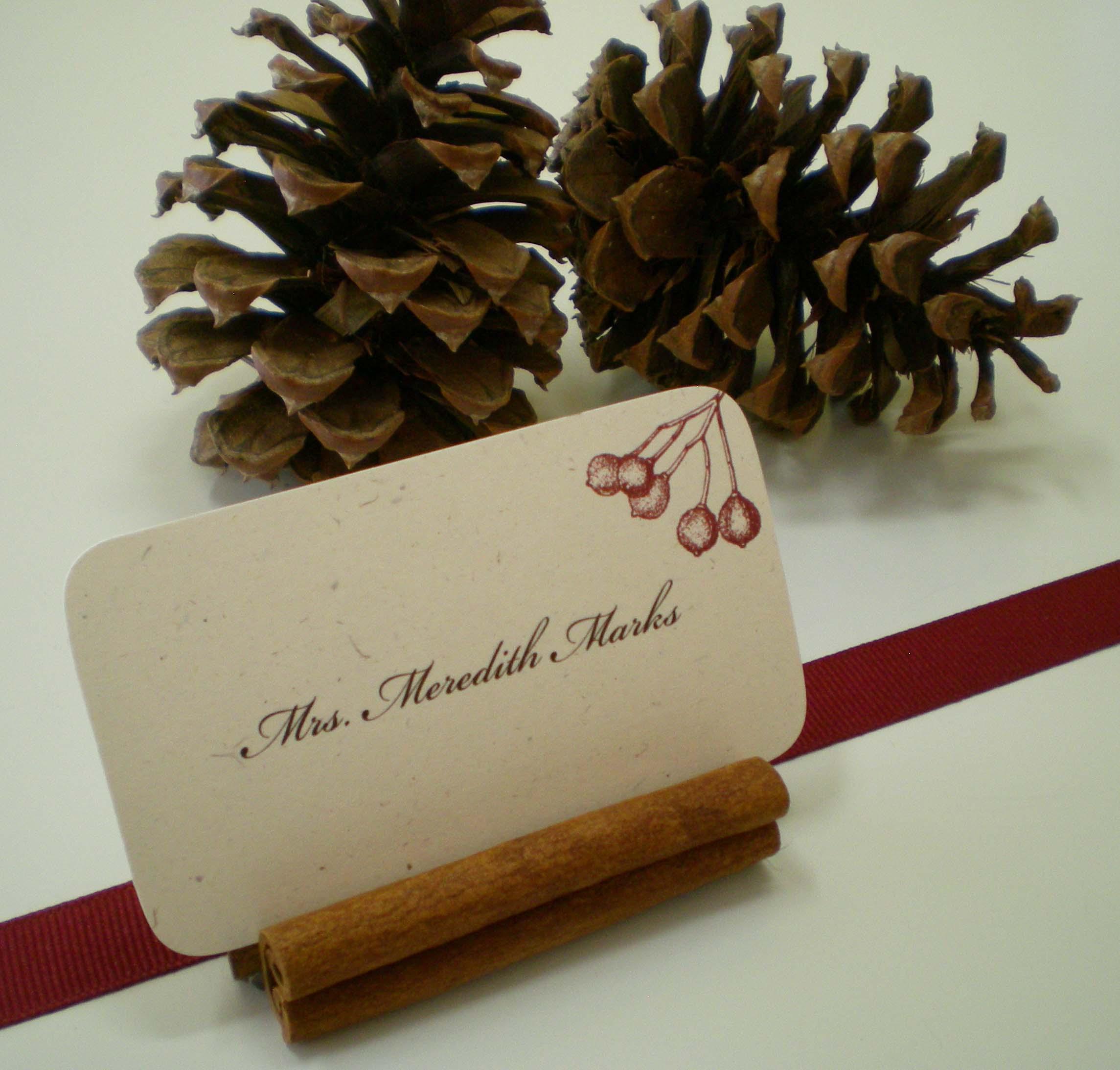 cinnamon stick place card stand cinnamon stick