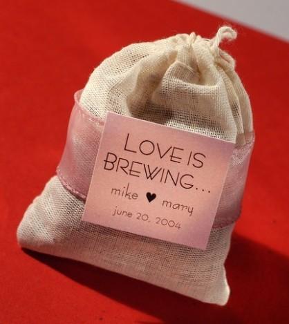 love is brewing tea favor