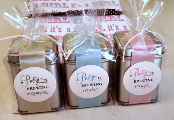 A Baby is Brewing Coffee Tin Unique Gift Pregnancy by ideachic on – Baby Announcement Favors